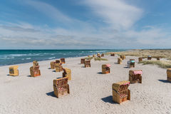 Sillas de playa a montones Imagen de archivo libre de regalías