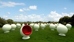 Sillas del capullo en un prado Imagen de archivo libre de regalías