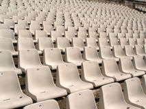 Sillas del estadio de fútbol Fotos de archivo libres de regalías