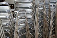 Sillas del metal Imagenes de archivo