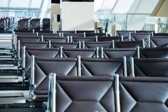 Sillas en el aeropuerto Imágenes de archivo libres de regalías