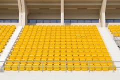 Sillas en el estadio Foto de archivo libre de regalías