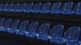 Sillas en el estadio almacen de metraje de vídeo