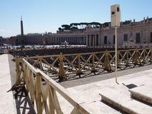 Sillas en St Peters Square, Vaticano Fotografía de archivo libre de regalías