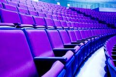 Sillas púrpuras Foto de archivo libre de regalías