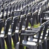 sillas plásticas Foto de archivo