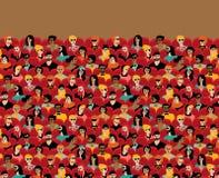 Sillas que se sientan de la gente grande del grupo del pasillo de la audiencia del auditorio Foto de archivo