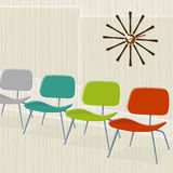 sillas Retro-inspiradas Stock de ilustración