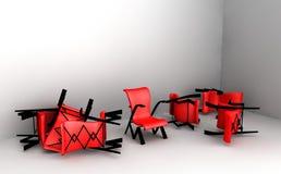 Sillas rojas Imágenes de archivo libres de regalías