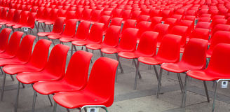 Sillas rojas Fotografía de archivo
