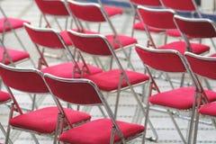 Sillas rojas Fotos de archivo
