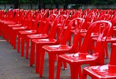 Sillas vacías rojas Fotografía de archivo libre de regalías