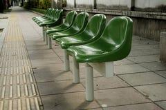 Sillas verdes Foto de archivo libre de regalías