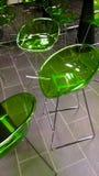 Sillas verdes Imágenes de archivo libres de regalías