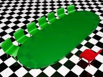 Sillas verdes, silla roja y vector ilustración del vector