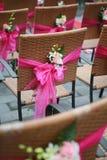 Sillas y flores Imágenes de archivo libres de regalías