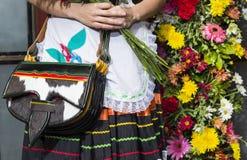 Silleteros-Parade, Blumen-Messe, Medellin, Antioquia, Kolumbien stockfoto