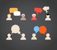 Sillhiuettes of talking people Stock Images