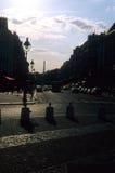 Sillhouetes de Paris Image stock