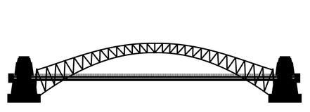 Sillhouette γεφυρών Στοκ Εικόνες