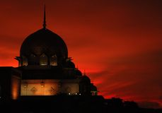 sillhouette мечети ii стоковое фото rf