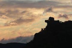 Sillhouette d'un chapeau Photographie stock libre de droits