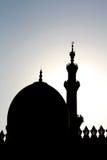 Sillhouette de la mezquita Foto de archivo libre de regalías