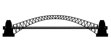 Sillhouette del ponte Fotografia Stock