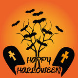 Sillhouette halloween Stock Photography