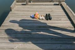 Sillhouette Paarliebe Lizenzfreies Stockbild