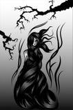Sillhouette van de heks Royalty-vrije Stock Fotografie