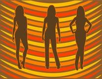 Sillhouettes stock de ilustración
