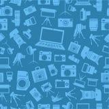 Sillhouettes van het fotomateriaal Royalty-vrije Stock Fotografie