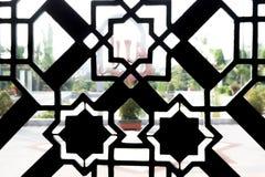 Sillhoutte del modello della decorazione della moschea Fotografia Stock Libera da Diritti