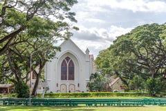 Silliman universitetkyrka på det Silliman universitetet royaltyfria foton