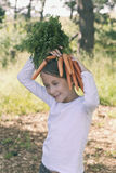 Silliness with carrots Stock Photo