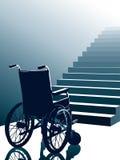 Sillón de ruedas y escaleras, vector Imágenes de archivo libres de regalías