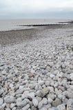 Silloth strand, Cumbria Royaltyfria Foton