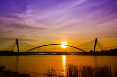 Sillouette of bridge Royalty Free Stock Images