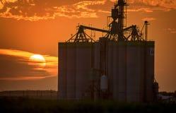 Sillouette Sunset Saskatchewan Stock Photo