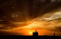 Sillouette Sunset Saskatchewan Royalty Free Stock Image