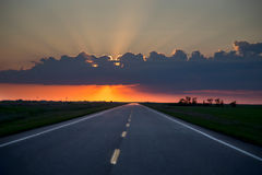 Sillouette Sunset Saskatchewan Royalty Free Stock Photography