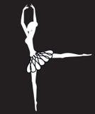 Sillouhette do dançarino de bailado Imagens de Stock