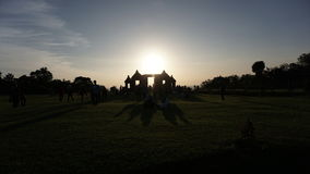 Silloutte świątynia zdjęcie royalty free