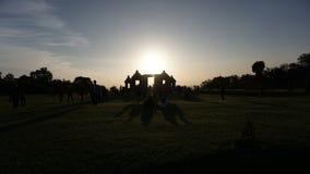Silloutte of temple. Sun down in ratu boko palace yogyakarta indonesia Royalty Free Stock Photo