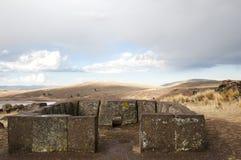Sillustani Burial Ground - Peru. Sillustani Burial Ground in Peru Stock Photo