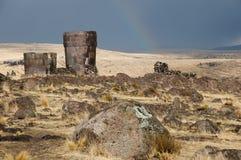 Sillustani Burial Ground - Peru. Sillustani Burial Ground in Peru Royalty Free Stock Photo