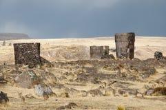 Sillustani Burial Ground - Peru. Sillustani Burial Ground in Peru Royalty Free Stock Photos