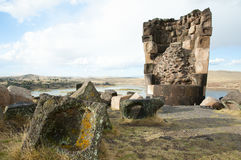 Sillustani Burial Ground - Peru. Sillustani Burial Ground in Peru Royalty Free Stock Image