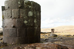 Sillustani Burial Ground - Peru. Sillustani Burial Ground in Peru Royalty Free Stock Images
